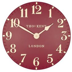"Thomas Kent 12"" 30cm Arabic Red Wall Clock - CK12059: Amazon.co.uk: Kitchen & Home"