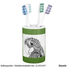 Seifenspender + Zahnbürstenhalter Set ZenZia Toothbrush Holder, Shop, Hang In There, Gifts, Store