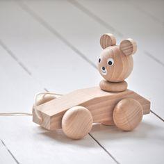 Wooden Pull - Along Bear