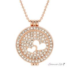 Rose Gold Floating Charms Herzen  Medaillon ohne GLAS...