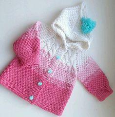 ~♥♥~ ~Günaydınn mutlu neşeli güzel bir haftasonu geçirmek dileğiyle iyi tatiller ♥ ~~~~~~~~~~~~~~ Baby Sweaters, Baby Patterns, Baby Items, Crochet Baby, Projects To Try, Knitting, Tube, Fashion, Baby Dresses