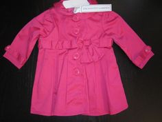 Baby Girl Pink Trench Coat Size 9 Months Perfect for Spring Save Big   eBay