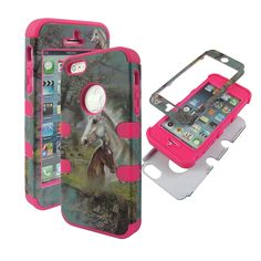 Hybrid Strong Full Defender 2 in 1 Hard Protector Cover Outer Case Apple Iphone 5 8gb 16gb 32gb Rubberized Hard Cover Protector Apple At&t, Sprint, Verizon Us Cellular Virgin Mobile, Straight Talk NEW Pink Outter Case Race Horse. Protect your phone with style through this Attractive Protector Case and make it tamper resistance. Delivers ultimate protection from scratches and molds perfectly to device's shape to highlight its beauty. Reinforced with hard plastic to the sides to ensure the...