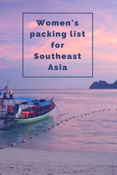 Not sure what to pack when you backpack Southeast Asia? This packing list will help. Tips for packing light and more...