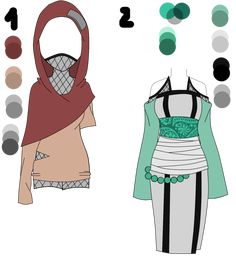 Naruto Outfit adoptable set 6 by xYu-nO on deviantART