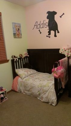 Addisyns pink and green dog bedroom. When putting your baby in the corner isn't such a bad thing! pawloyalty.com kennel software