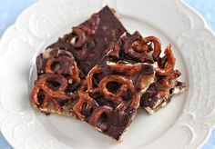 Salted Chocolate Pretzdl Toffee (aka Crack Bark) by ezrapoundcake: Salty, sweet and crunchy! #Snack #Chocolate #Pretzel