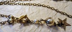 DIY Kit Starry Night Ivory Pearl and Filigree by KCRlehrstudio, $12.00