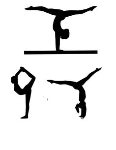 Zimmerwand clipart  15 Gymnastics Silhouette Digital Clipart by OMGDIGITALDESIGNS ...