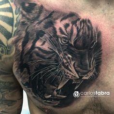 Y este ha sido el resultado de la primera sesión del pecho de @hispanoface y pronto más! Gracias Adri #tattoo #tiger #animal #savage #ink #hispanoface #thebestspaintattooartists #bnginksociety #inkjecta #aloetattoo