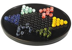 chinese checkers game - would rather have a more ornate board but LOVE the marbles!