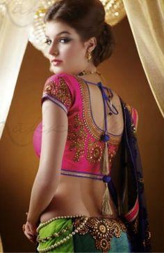 Nakashi green blue designer #saree buy online at #craftshopsindia