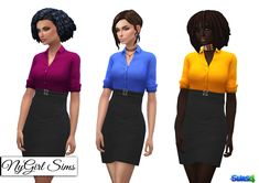 Double Belted Business Dress