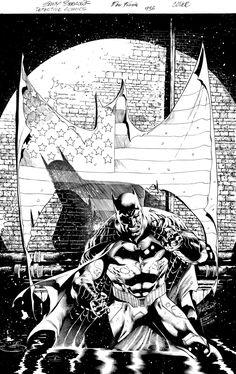 Detective Comics #936 COVER!!! Eddy Barrows Eber Ferreira BATMAN *SOLD* Comic Art