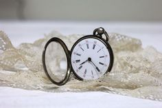 Antique French 1830s Sterling Silver Pocket Watch by Aulapinnoir, $120.00