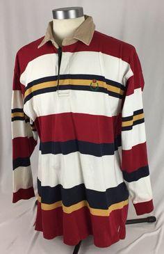 ed2135cc2e Vintage VTG Chaps Ralph Lauren Long Sleeve Polo Shirt Size XL 90s | eBay Chaps  Ralph
