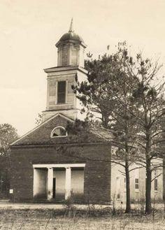Methodist Church Cahawba, Alabama as seen in the 1930's