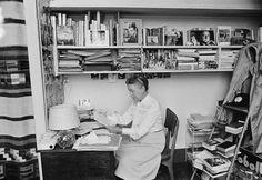 Simone de Beauvoir in her apartment in Paris. october 12, 1976. Photo: Jacques Pavlovsky.