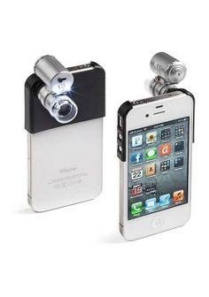 iPhone'a mini mikroskop