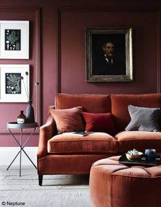 Un salon tendance avec des couleurs reposantes. l couleurs tendances l aménagement pour salon l inspirations et idées l Pour plus d'idées, cliquez ici : http://www.brabbu.com/all-products/