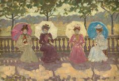 In The Park Paris by Maurice Prendergast | Art Posters