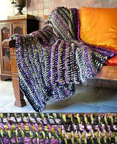 Tunisian Crochet Pattern-Stash Buster Blanket $7.00