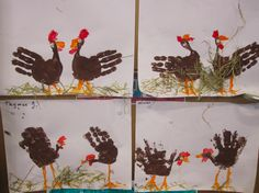 Turkey art for kids to do Farm Crafts, Daycare Crafts, Kids Crafts, Arts And Crafts, Thanksgiving Crafts For Kids, Easter Crafts, Holiday Crafts, Thanksgiving Cards, Turkey Handprint