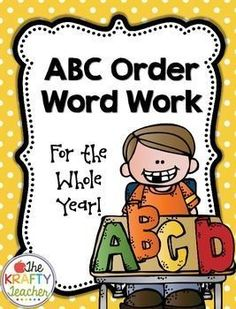 Year Long Alphabetic Order ABC Word WorkThemed Lists to practice putting words in alphabetic order all year long! 34 pages of ABC Word Work including tie in topics such as Science, Social Studies, Art and Music also month and seasonal words. Also includes a blank page to create your own with any list!