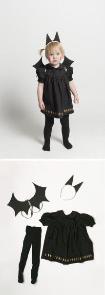 Mer Mag: Baby Bat Costume with Cardboard Wings and Ears
