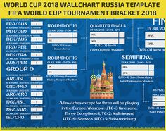 World Cup 2018 wallchart: Download or print off your brilliant guide to the finals in Russia Simply open download the PDF file to your desktop and print it off today! Keep Track of upcoming Matches schedule & Fixtures Included: - Downloadable FIFA 2018 World Cup Russia Wallchart FIFA RUSSIA