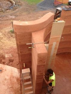 Gallery - StabilEarth Cargo Container Homes, Container Design, Shipping Container Homes, Container Cabin, Container Store, Rammed Earth Homes, Rammed Earth Wall, Sustainable Architecture, Architecture Design