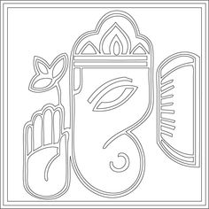 Buddha Doodle, Buddha Art, Ganesha Painting, Ganesha Art, Pencil Art Drawings, Easy Drawings, Ganesh Tattoo, Ganapati Decoration, Interesting Drawings