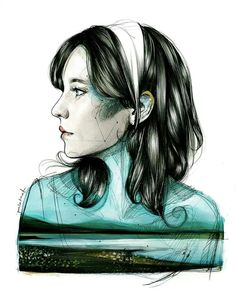 Illustration by Paula Bonet. Stunning #aquatic #art #illustration downloadt-shirtdesigns.com
