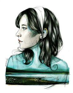 Illustration by Paula Bonet. Stunning #aquatic #art #illustration downloadt-shirtdesigns.com