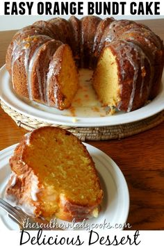 ORANGE BUNDT CAKE - The Southern Lady Cooks - add 1 cup dried cranberries, use orange cake mix, vanilla AND orange extract Orange Juice Cake, Orange Bundt Cake, Orange Zest, Bunt Cakes, Cupcake Cakes, Cake Mix Recipes, Dessert Recipes, Bundt Cake Recipe Using Cake Mix, Orange Flavored Cake Recipe