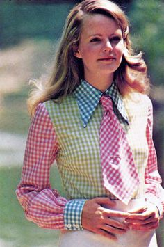 1970s gingham fashion