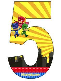 Alfabeto de PJ Masks en la Ciudad. PJ Masks Alphabet. Alphabet Birthday, Lego Birthday, Birthday Favors, Birthday Decorations, Pj Masks Cake Topper, Pjmask Party, Party Ideas, Pj Masks Printable, Festa Pj Masks