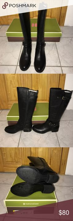 Naturalizer jovana boots Brand new. Naturalizer jovana black boots. Buckles to top of boots and ankle. Comes with original box. Naturalizer Shoes Winter & Rain Boots