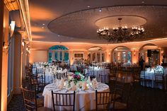beautiful night shot of the Ballroom before the festivities begin...