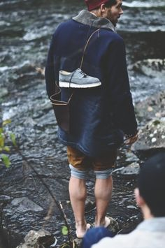 Barefoot, styled and prepped for adventure.