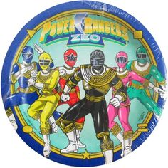 Power Rangers Vintage 1996 'Zeo' Small Paper Plates (8ct)