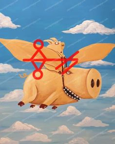 When the pigs fly! Flying Pig, Runes, Pikachu, Disney Characters, Fictional Characters, Witch, Art, Pigs, Art Background