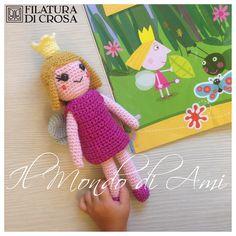 """Principessa Holly del """"Il Piccolo Regno di Ben & Holly"""" #amigurumi #handmade #crochet realizzata con filato """"Zarina"""" Filatura di Crosa"""