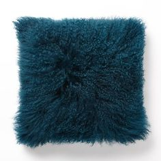 Mongolian Lamb Pillow Covers - Square | west elm