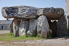 Crucuno dolmen, in Plouharnel (Morbihan, Brittany, France). This is thought to… Stonehenge, Stone Age Art, Anta, Ancient Mysteries, Ancient Aliens, Ancient Civilizations, Ancient Artefacts, Cairns, Archaeology