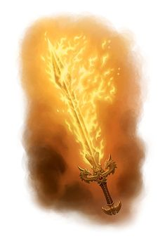 +1 Sword: Flametongue; adds fire damage to successful attacks