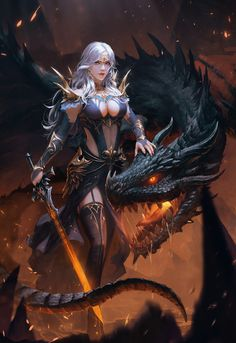 Best Ideas for dark fantasy art women fairy tales Dark Fantasy Art, Fantasy Girl, Fantasy Art Women, Fantasy Kunst, Fantasy Artwork, Art Anime Fille, Anime Art Girl, Fantasy Warrior, Warrior Girl