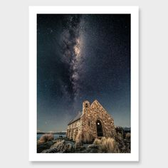 Stone to Stars –Tekapo Photographic Print by Mike Mackinven Click here: http://www.endemicworld.com/stone-to-stars-tekapo-photographic-print-by-mike-mackinven.html