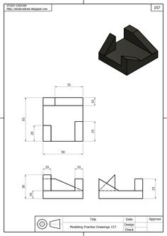 Vistas y desarrollo 3D Orthographic Projection, Orthographic Drawing, Autocad, Mechanical Engineering Design, Mechanical Design, 3d Sketch, Sketch Design, 3d Drawings, Drawing Sketches