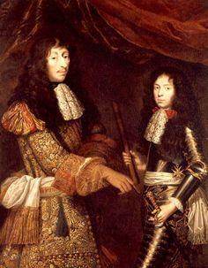 Louis II. de Bourbon, prince de Condé, mit seinem Sohn Henri d'Enghien